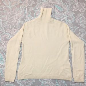 Sweaters - 100% Cashmere Turtleneck Sweater, Ivory